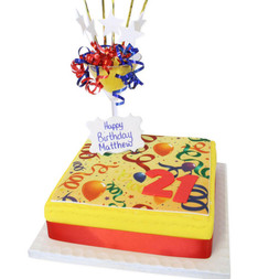 Number Special Age Birthday Cake