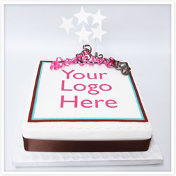 Square corporate logo cake
