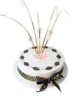Christmas Holly Cake