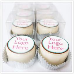 Mini Round Logo Cakes