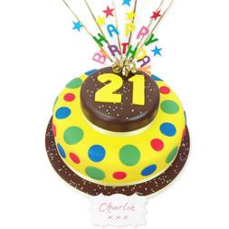 Birthday Star Burst Cake