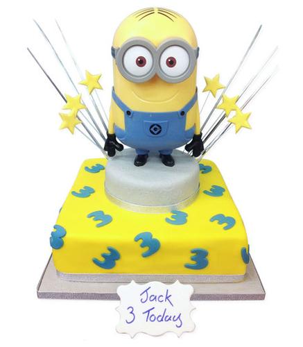 Minion Money Box Birthday Cake