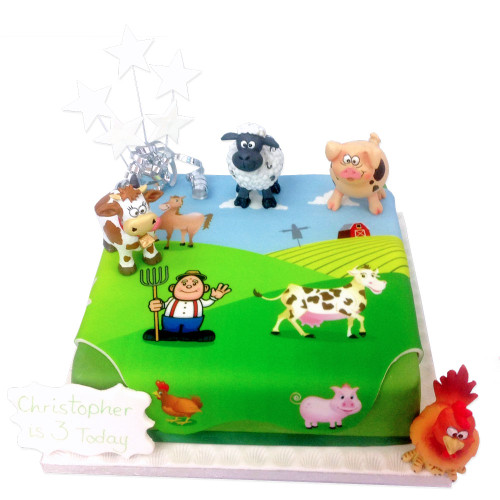 On The Farm Birthday Cake