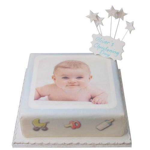Baby Boy Photo Cake
