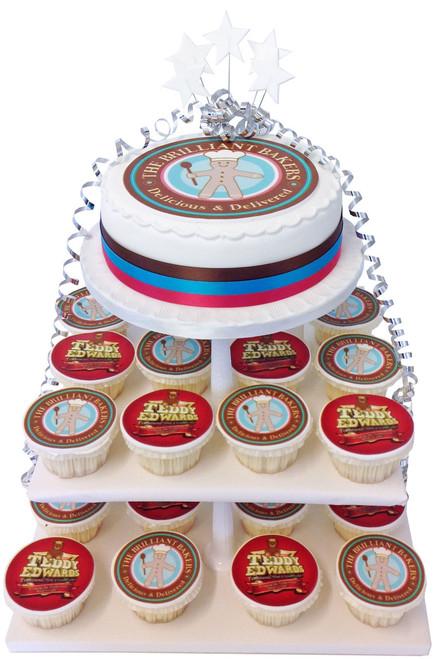 Corporate Logo Cake Tower