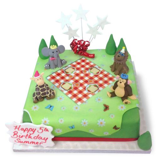 Animals Tea Party Cake