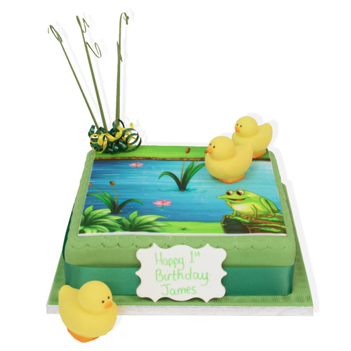 Duck Pond Birthday Cake
