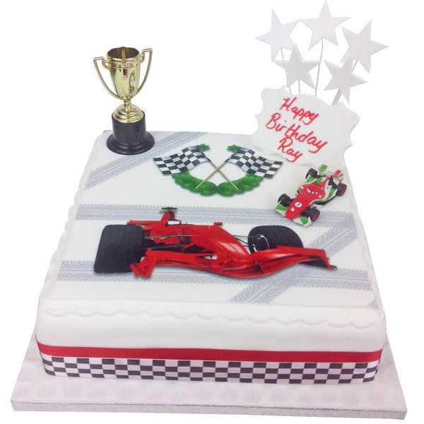 Racing Car Birthday Cake