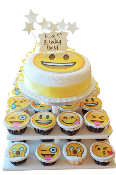 Emoji Cake Tower Cupcake Towers The Brilliant Bakers