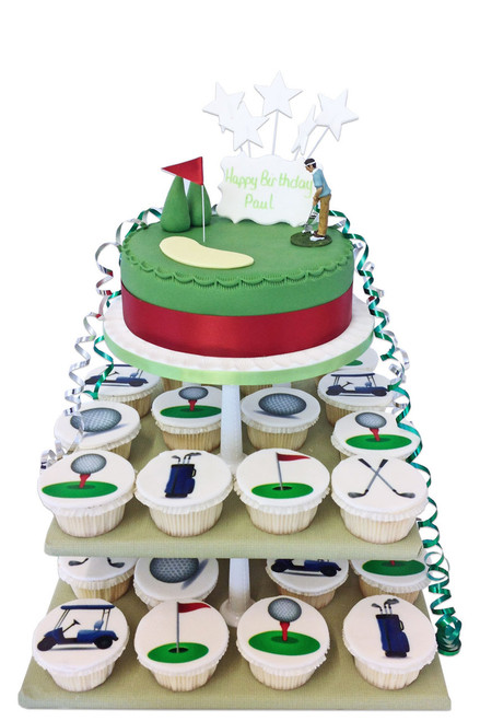 Golf Cupcake Tower Golf Cupcakes The Brilliant Bakers