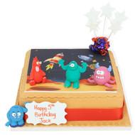 Space Aliens Birthday Cake