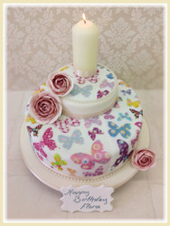 Patchwork Butterflies Luxury Cake