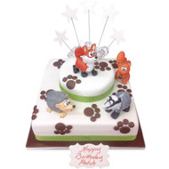 Forrest Animals Birthday Cake