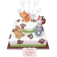 Kitten Paw Print Cake
