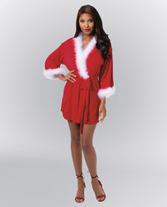 Knit Jersey Wrap Robe - XL