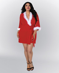 Knit Jersey Wrap Robe -2X
