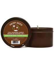 Hemp seed 3 in 1 Massage Candle - 6 oz Naked in the Woods
