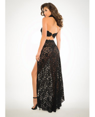 Lace Bandeau Top & Skirt Black SM