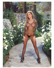 Fishnet Long Sleeved Open Crotch Bodystocking