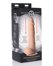 Master Series Power Pounder Realistic Thrusting Silicone Dildo