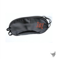 Swingers motif Roleplay Black Blindfold Mask - Black