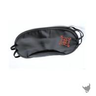 Swingers motif Roleplay Black Blindfold Mask - Black
