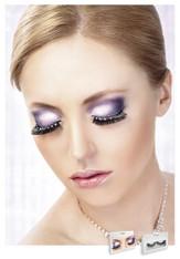 Baci Black-White Rhinestone Eyelashes Style 485