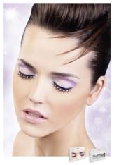 Baci Black-Baby Pink Rhinestone Eyelashes Style 486