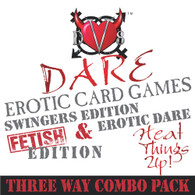 Deviate Dare™ Three Way Erotic Card Games - Combo Pack