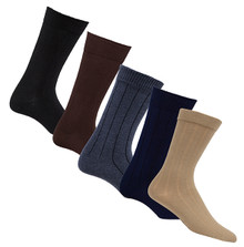 Mens Health & Comfort Ribbed Mid-Calf  Diabetic Socks 3 Pack