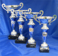 Silver & Blue Handled Cups