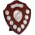 "12"" 9yr Chrome Annual Shield Award Wood"
