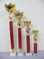 Fantastic Set of Tall Gold Bowl Cup Awards