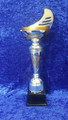 Silver/gold metal sail bowl trophy