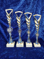 Elegant tall silver/blue trophy
