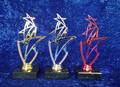 Triple star award gold, silver, pink
