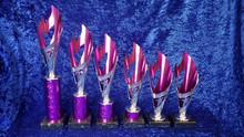 purple/silver flame cone set