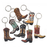 Cowboy Boot Keyring (assorted styles)