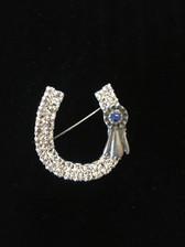 Blue Ribbon Brooch Pin