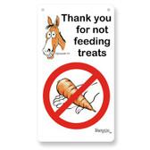 Fergus Stall Sign *** No Feeding ***