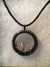 Loriece Glass Locket with Dressage Charms