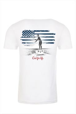 C.F.L. Fly Short Sleeve T-Shirt White