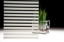 3M Fasara™ Glass Finishes Slat (Stripe/Border | SH2FGSL)  Transform plain glass by capturing the look of etched, cut, sandblasted and textured glass at a lower cost Tailor the amount of privacy a space possesses Fast, accurate, durable application to a variety of substrates Constructed from durable and flexible polyester materials Available in 90+ decorative patterns, 3M™ FASARA™ Glass Finishes not only enhance interior aesthetics, but also help control light and privacy. These durable films provide the advantage of etched, cut, sandblasted, and textured glass at a fraction of the cost.  Suggested Applications Use to transform conference rooms, lobbies, retail environments, partitions, verandas, or private offices