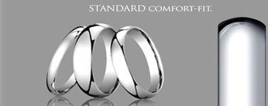 Standard Comfort-Fit Wedding Rings - curved on the inside / curved on the outside