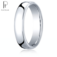 Platinum 5.5mm European Comfort-Fit ™ Ring