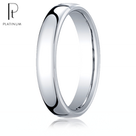 Platinum 4.5mm European Comfort-Fit ™ Ring