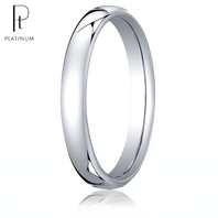 Platinum 3.5mm European Comfort-Fit ™ Ring