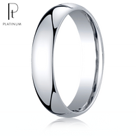 Platinum 5mm Traditional Comfort-Fit Ring