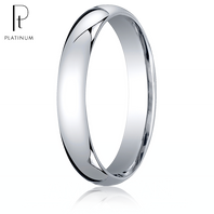 Platinum 4mm Comfort-Fit Ring