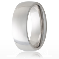 Jewelry Innovations Vitalium® Traditional Domed 8mm Comfort Fit Wedding Ring - V8D